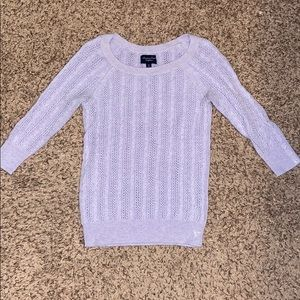Cute Lavender Cable Knit Sweater
